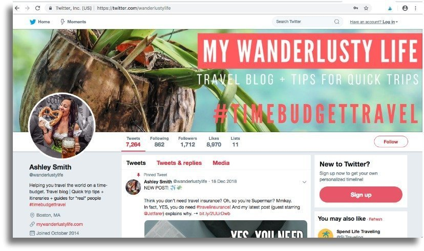 The Wanderlusty Guide to How to Start a Blog | Starting a WordPress blog from scratch with SiteGround | Twitter and social media | Blogging Tips | Where to start | How to start a travel blog | How to become a blogger #bloggingtips #blogging #travelblogger #travelblog #digitalnomad #wordpress