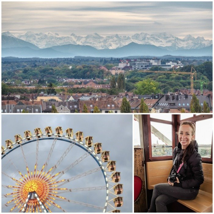 An Oktoberfest Tour Guide's Most Frequently Asked Oktoberfest Questions   Need to know Oktoberfest in Munich, Germany #oktoberfest #munich #germany #beer #festival   Riding the ferris wheel, and Alps