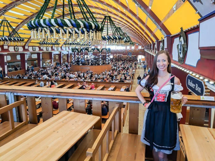 An Oktoberfest Tour Guide's Most Frequently Asked Oktoberfest Questions | Need to know Oktoberfest in Munich, Germany #oktoberfest #munich #germany #beer #festival | Dirndl in the Lowenbrau tent
