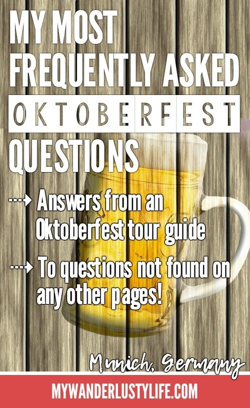 An Oktoberfest Tour Guide's Most Frequently Asked Oktoberfest Questions   Munich, Germany #traveltips #oktoberfest #munich #germany #festival #beer