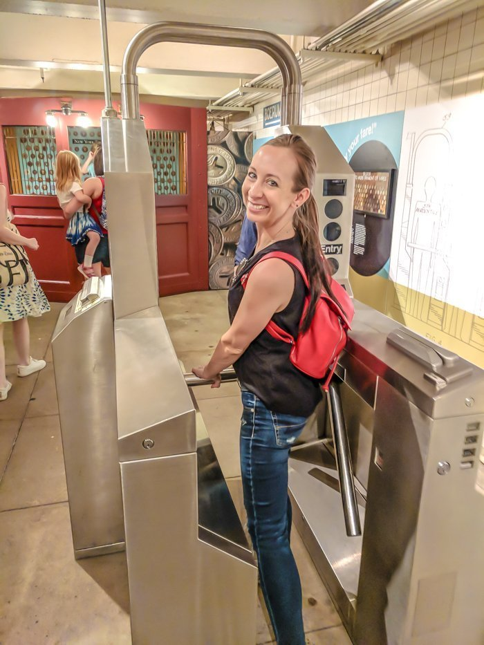 Vintage turnstiles at Brooklyn's New York Transit Museum // Underground and Underrated | The best New York City museum you've never heard of | New York City hidden gem | #NewYorkCity #museum #transitmuseum #brooklyn #nycmuseum #traveltip #timebudgettravel
