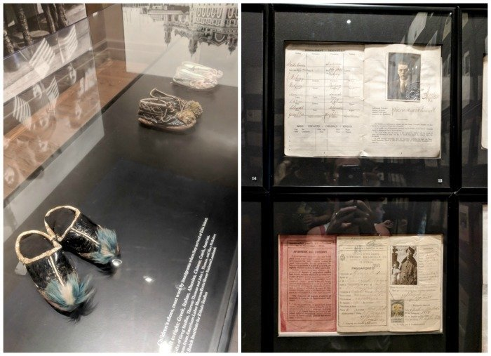 A Time-Budget Traveler's Guide to Visiting Ellis Island in a Hurry | New York City, Manhattan and the Statue of Liberty | United States Immigration Museum | National Park Site #ellisisland #newyorkcity #stateofliberty #nyc #manhattan #ushistory artifacts and shoes