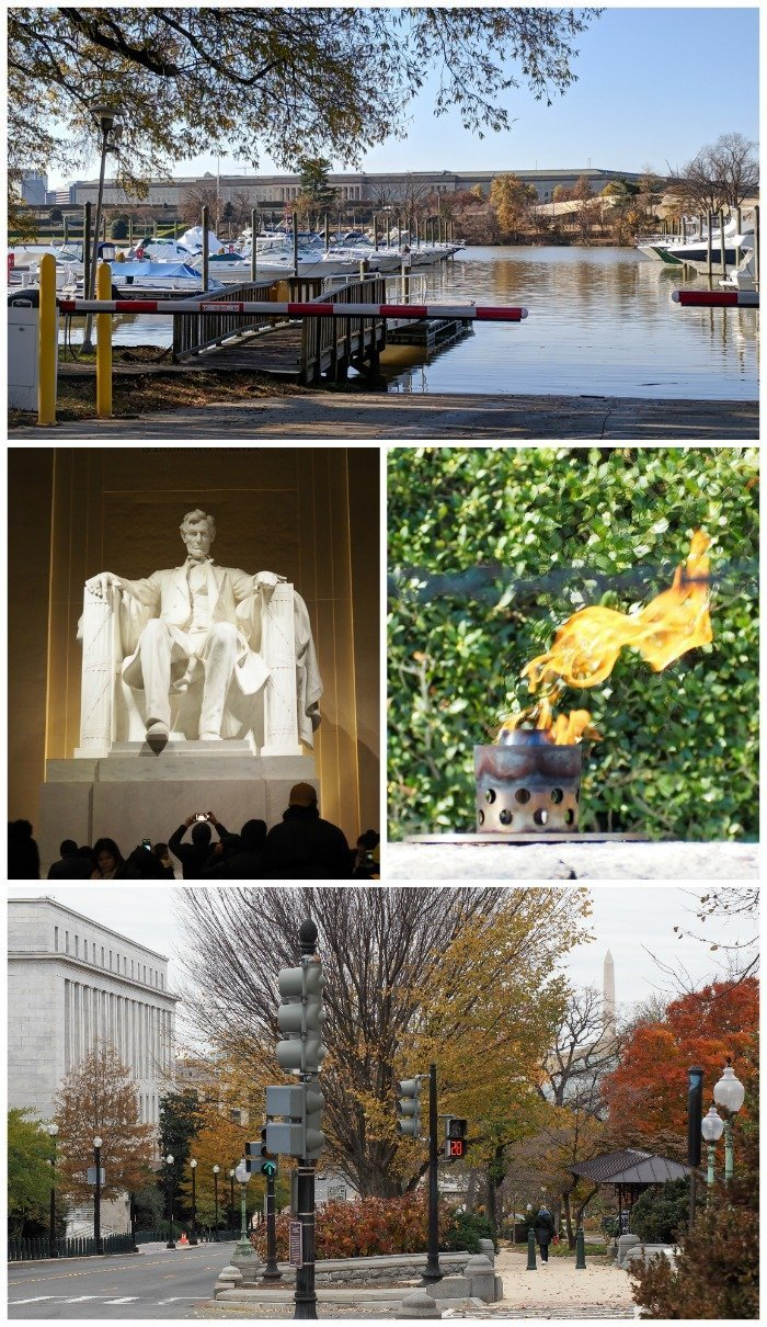 The Pentagon, Lincoln Memorial, eternal flame Arlington National Cemetery | A Jam-Packed 3 Days in Washington DC Itinerary for First Time Visitors | #washingtondc #timebudgettravel #USA