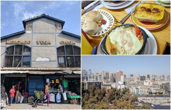 How to Spend One Week in Chile and Cover All the Bases   Santiago and having lunch at Mercado Vega Chica   Pastel de Choclo   #santiago #chile #mercado #market