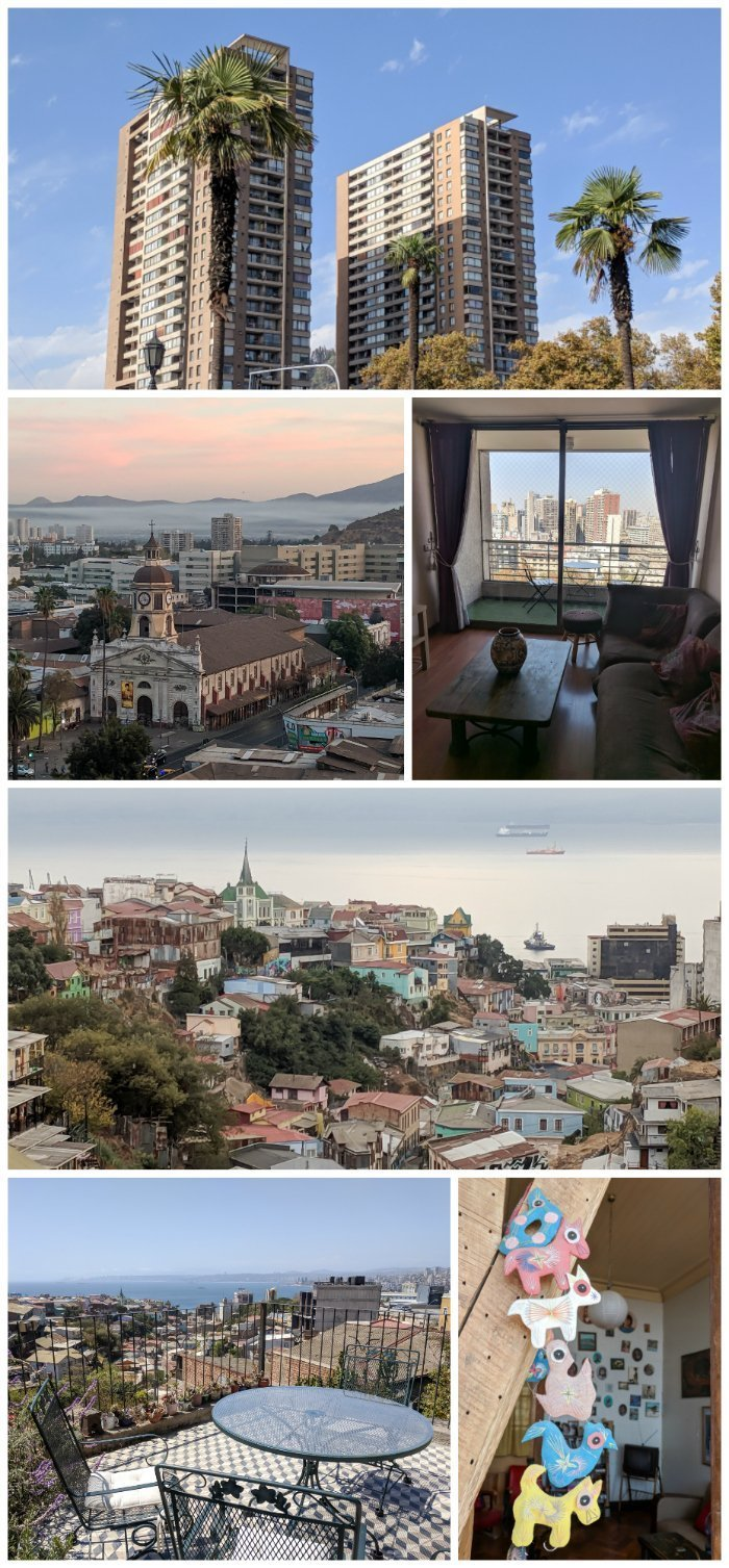 How to Spend One Week in Chile and Cover All the Bases | Where to stay in Chile, Santiago and Valparaiso #chile #santiago #whattodoinchile #weekinchile #valparaiso #chileairbnb #terrace