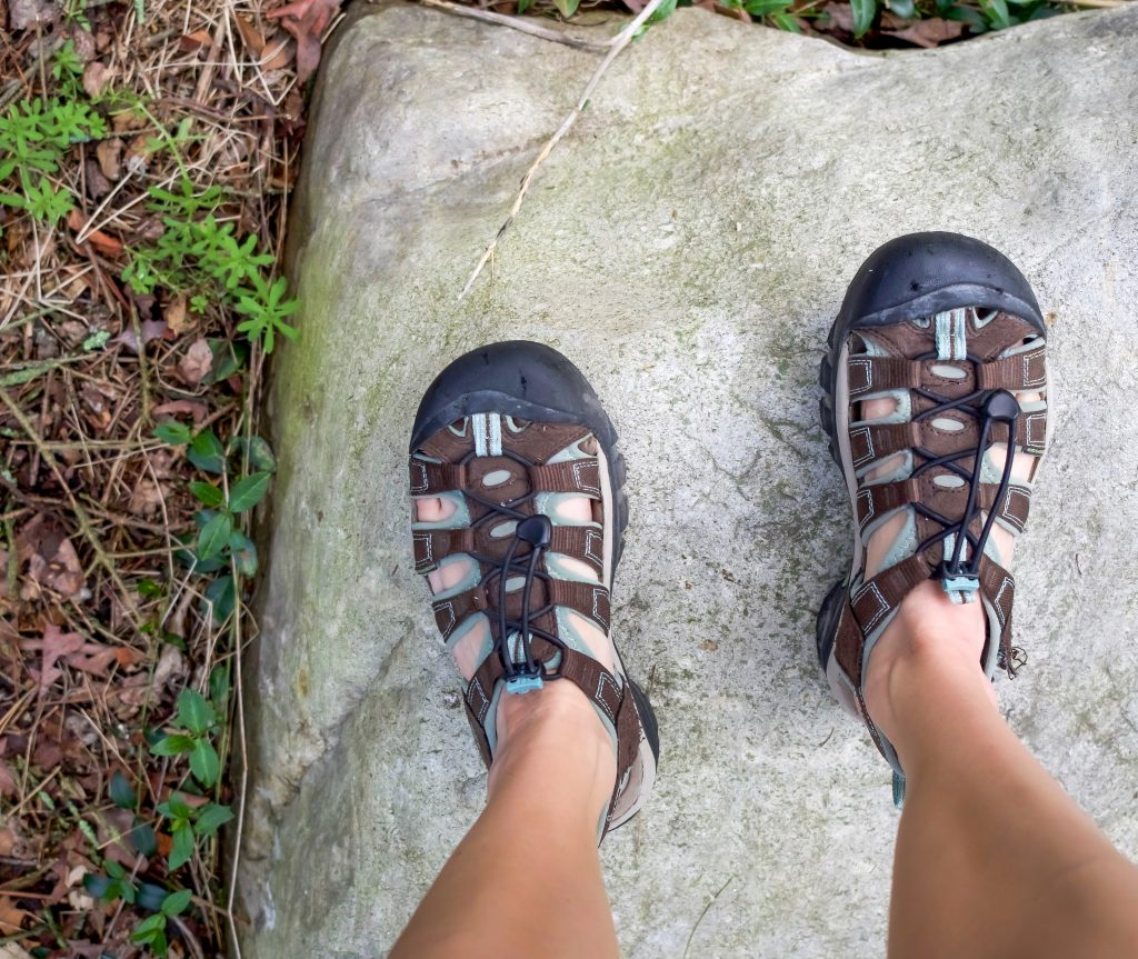 Belize travel guide | The must-have shoe when traveling to Belize - they're perfect for the ATM Cave, hiking in the jungle, hanging out on the islands, and various other adventure activities. Keen Newport H20. #traveltips #belize #travelshoes #atmcave