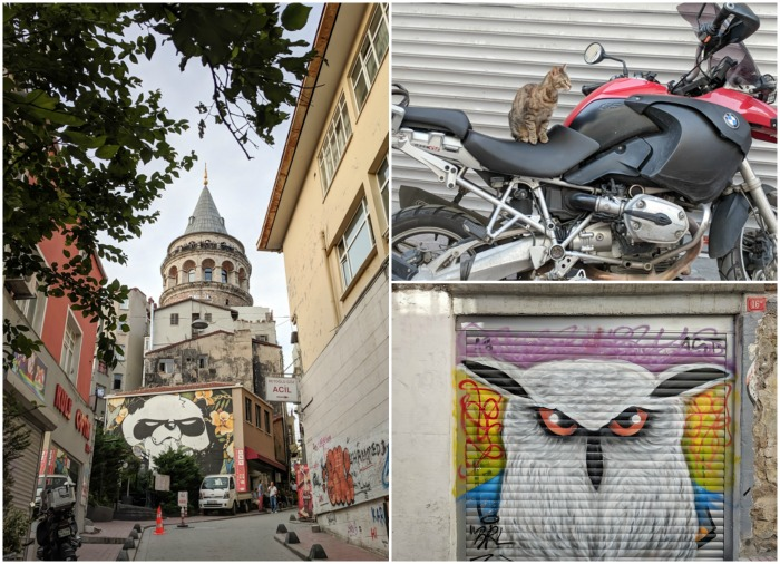 Street art and street cats, Where to Stay in Istanbul, Turkey: Hotel Momento Golden Horn in Beyoglu / Karakoy. #istanbul #turkey #goldenhorn #wheretostay #hotelreview #hotelmomento #traveltips #beyoglu #karakoy