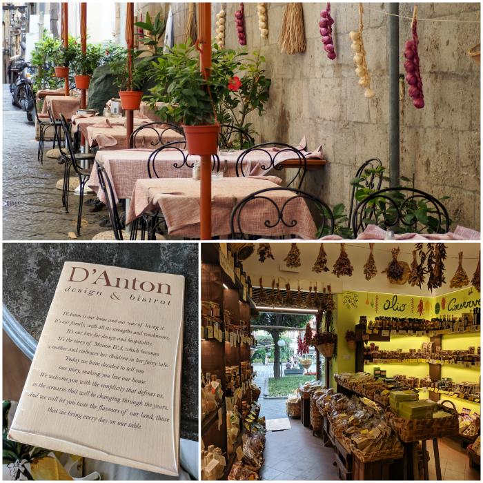 5 days in Sorrento, Italy + the Amalfi Coast   Downtown Sorrento, lemon shop, streets and restaurants #sorrento #italy #amalficoast
