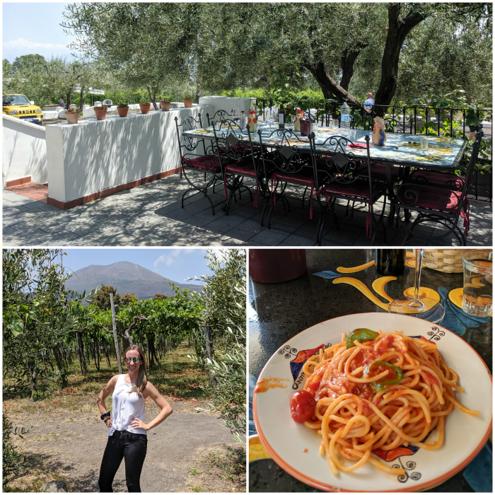 5 days in Sorrento, Italy + the Amalfi Coast   Lunch and wine tasting at Cantina del Vesuvio winery, Mount Vesuvius #sorrento #italy #winery #winetasting #vesuvius #naples