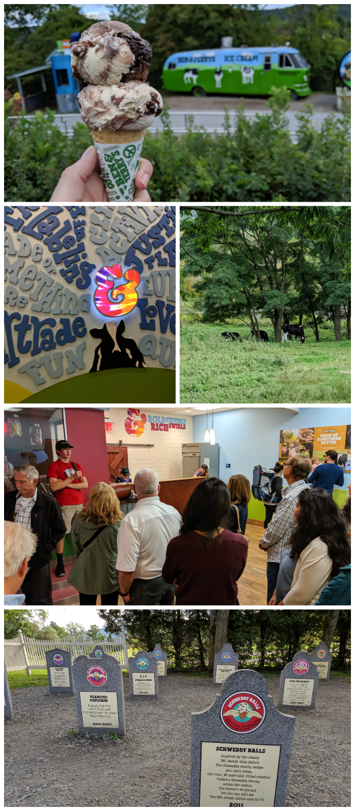 Ice cream factory tour at Ben & Jerry's   11 Ways to Fill Your Days During a Weekend in Vermont   #vermont #burlington #newengland #benandjerrys #icecream