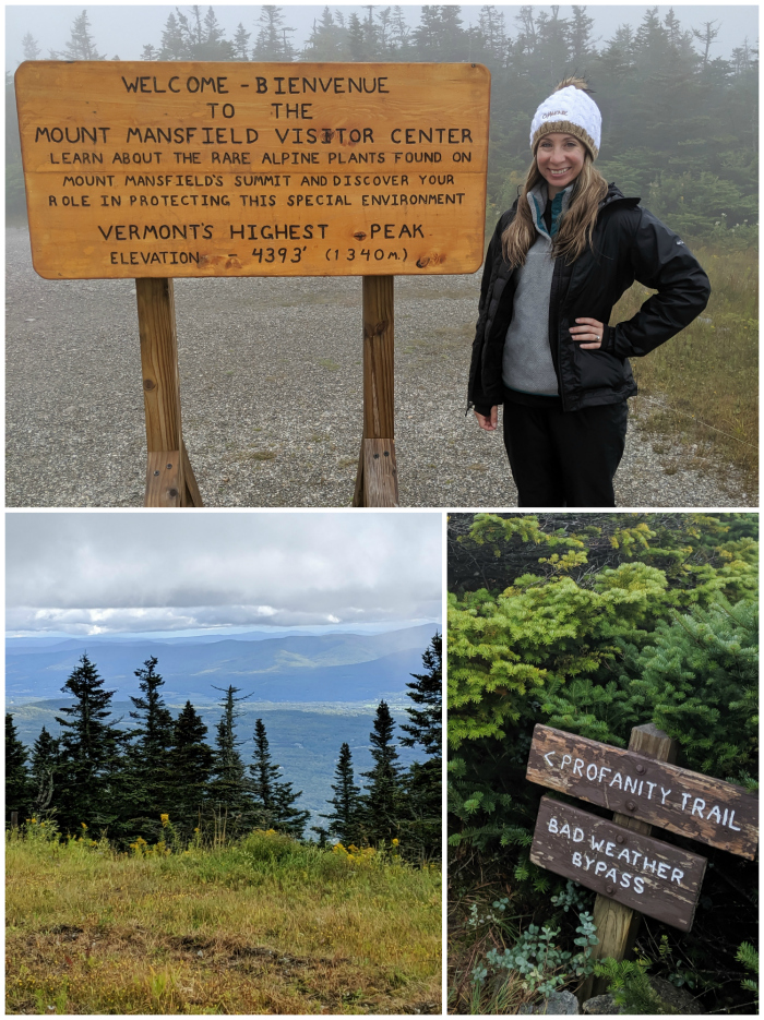 Hiking in the Green Mountains, Mount Mansfield   11 Ways to Fill Your Days During a Weekend in Vermont   #vermont #stowe #newengland #greenmountains #hiking