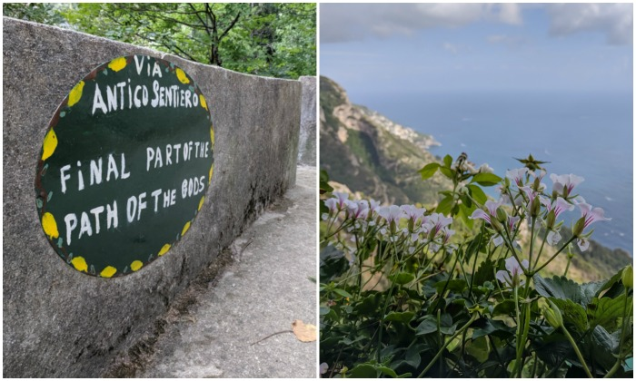 The end of the stairs in Positano, along the Amalfi Coast | Hiking the Path of the Gods from Sorrento, Italy on the Amalfi Coast | #pathofthegods #sorrento #amalficoast #hiking #italy