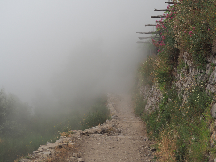 Clouds and fog along the Amalfi Coast | Hiking the Path of the Gods from Sorrento, Italy on the Amalfi Coast | #pathofthegods #sorrento #amalficoast #hiking #italy