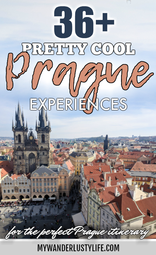Red rooftops and towers, views from the Old Town Hall Tower   Cool Prague Experiences   Czech Republic / Czechia   What to do in Prague, best prague things to see and do, where to stay in Prague, optional Prague tours, and so much more! #prague #czechrepublic #czechia #traveltips #timebudgettravel
