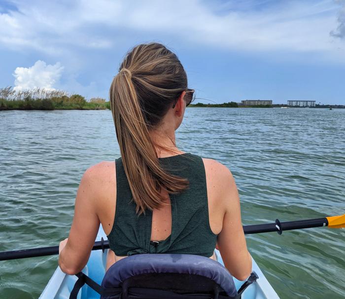 Kayaking at Honeymoon Island, Dunedin | My 5 Favorite Ways I Spend a Weekend in Clearwater, Florida | #clearwater #florida #kayaking #honeymoon