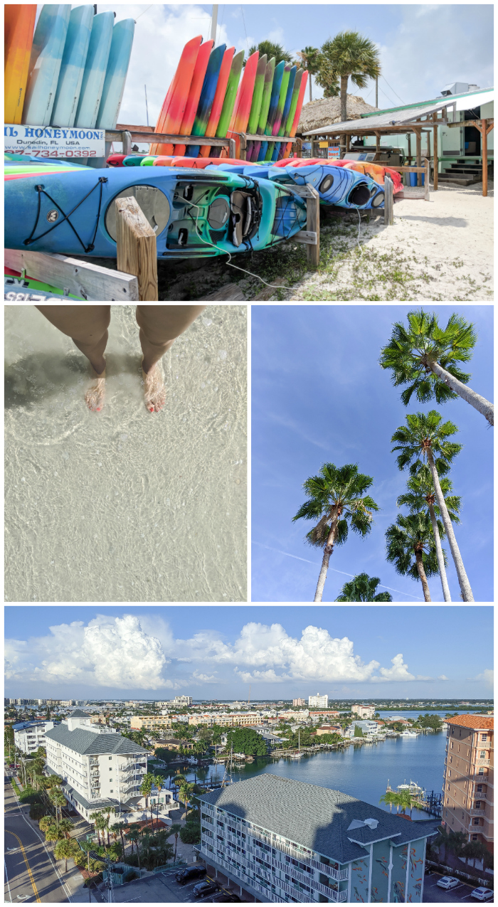 Kayaking, palm trees, beach scene | My 5 Favorite Ways I Spend a Weekend in Clearwater, Florida | #clearwater #florida #clearwaterbeach #palmtrees #kayaking