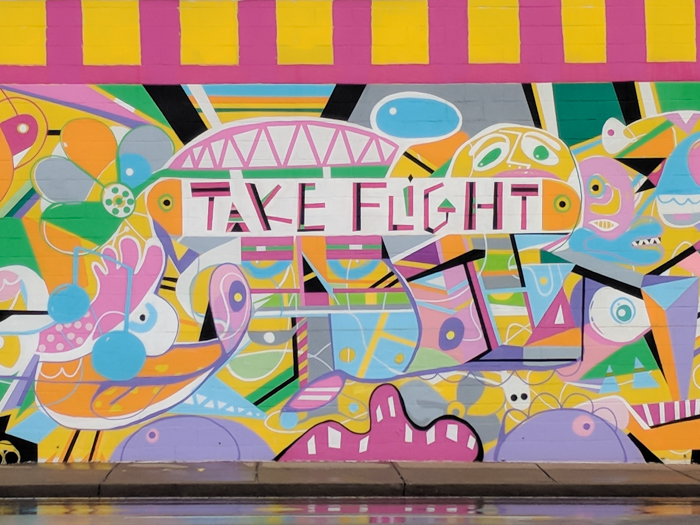 How to Spend a Weekend in Nashville If You Hate Country Music | Nashville, Tennessee | Nashville take flight mural