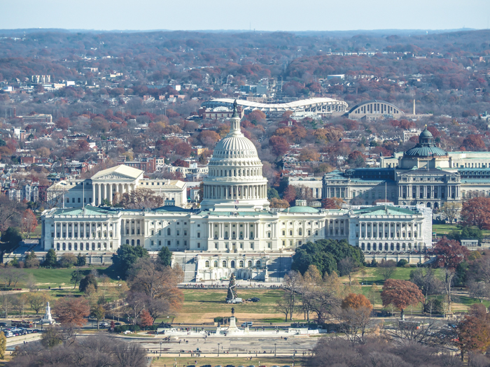 View of the U.S. Capitol from the Washington Monument | Another long weekend in Washington, D.C.