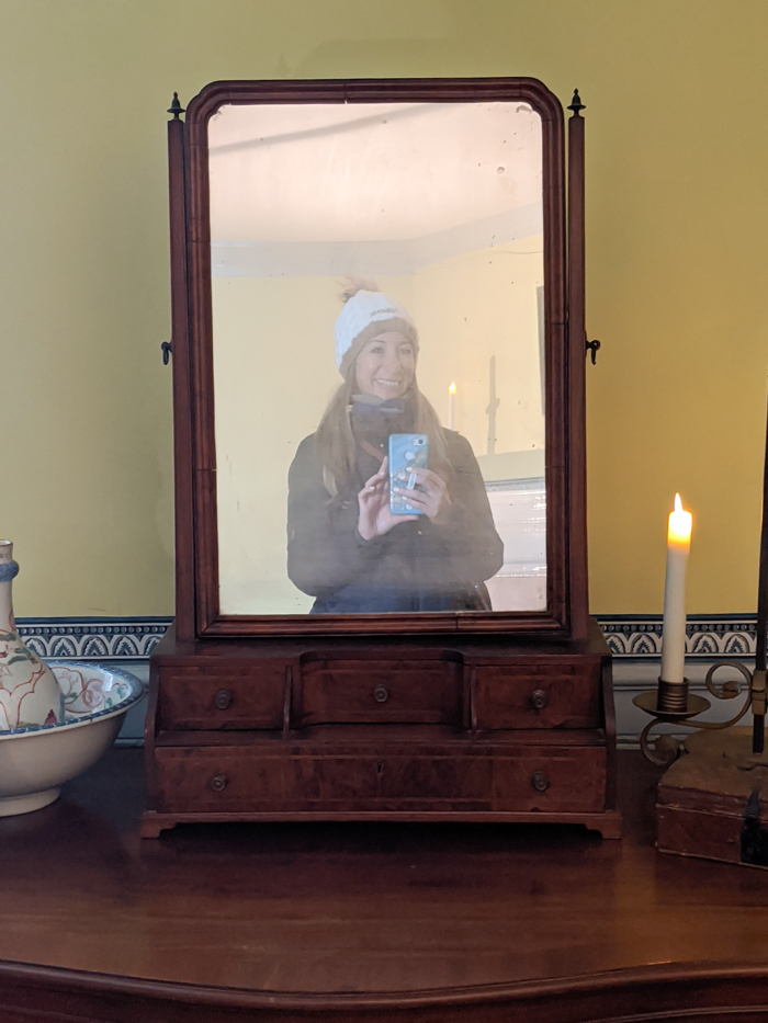 One of the mirrors inside George Washington's house at Mount Vernon | Another long weekend in Washington, D.C.