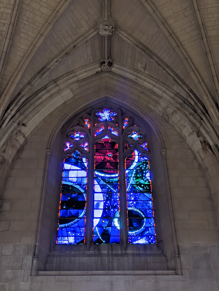 Space window at Washington National Cathedral | Another long weekend in Washington, D.C.
