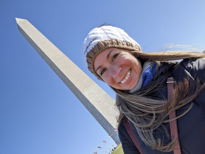 Selfie in front of the Washington Monument | Another long weekend in Washington, D.C.