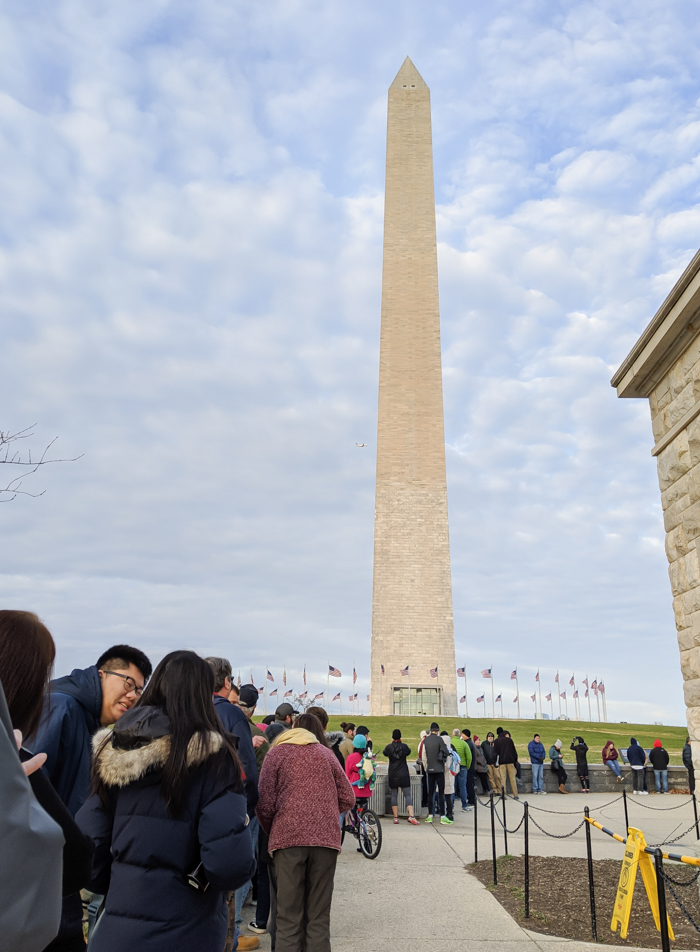 Washington Monument ticket line | Another long weekend in Washington, D.C.