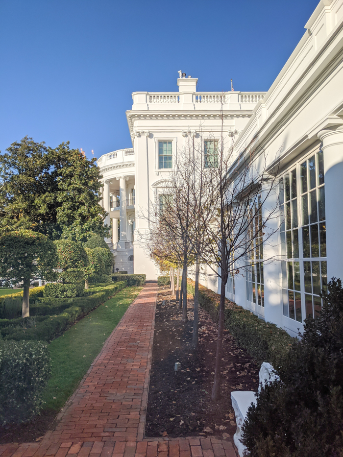 White House courtyard from inside | Another long weekend in Washington, D.C.