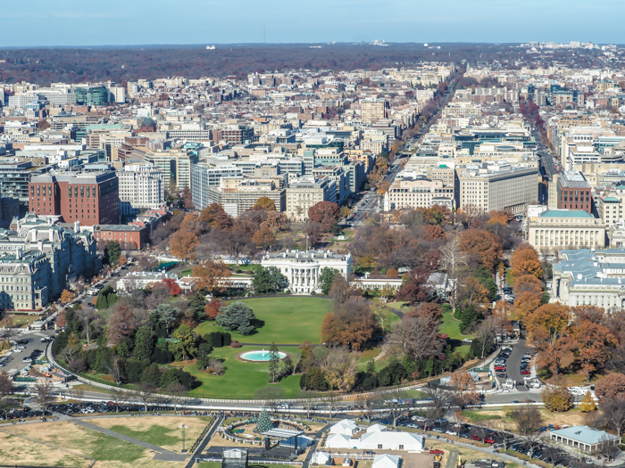White House view from the top of the Washington Monument | Another long weekend in Washington, D.C.