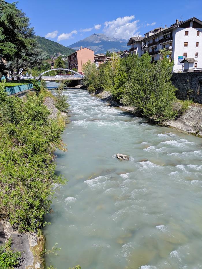 Buthier River, mountain torrent   How to Spend 1 Day in Aosta, Italy // The Capital of the Aosta Valley   Things to see in Aosta, Things to do in Aosta, Where to eat in Aosta, the smallest of Italy's 20 regions #aosta #italy #aostavalley #traveltips #timebudgettravel #romanruins #ancient #ruins