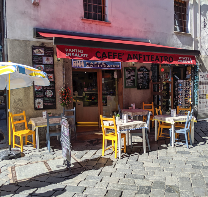Caffe Anfiteatro for lunch   How to Spend 1 Day in Aosta, Italy // The Capital of the Aosta Valley   Things to see in Aosta, Things to do in Aosta, Where to eat in Aosta, the smallest of Italy's 20 regions #aosta #italy #aostavalley #traveltips #timebudgettravel #romanruins #ancient #ruins