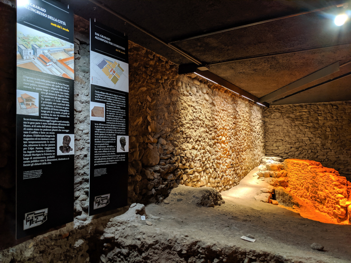 Inside the Regional Archaeology Museum   How to Spend 1 Day in Aosta, Italy // The Capital of the Aosta Valley   Things to see in Aosta, Things to do in Aosta, Where to eat in Aosta, the smallest of Italy's 20 regions #aosta #italy #aostavalley #traveltips #timebudgettravel #romanruins #ancient #ruins