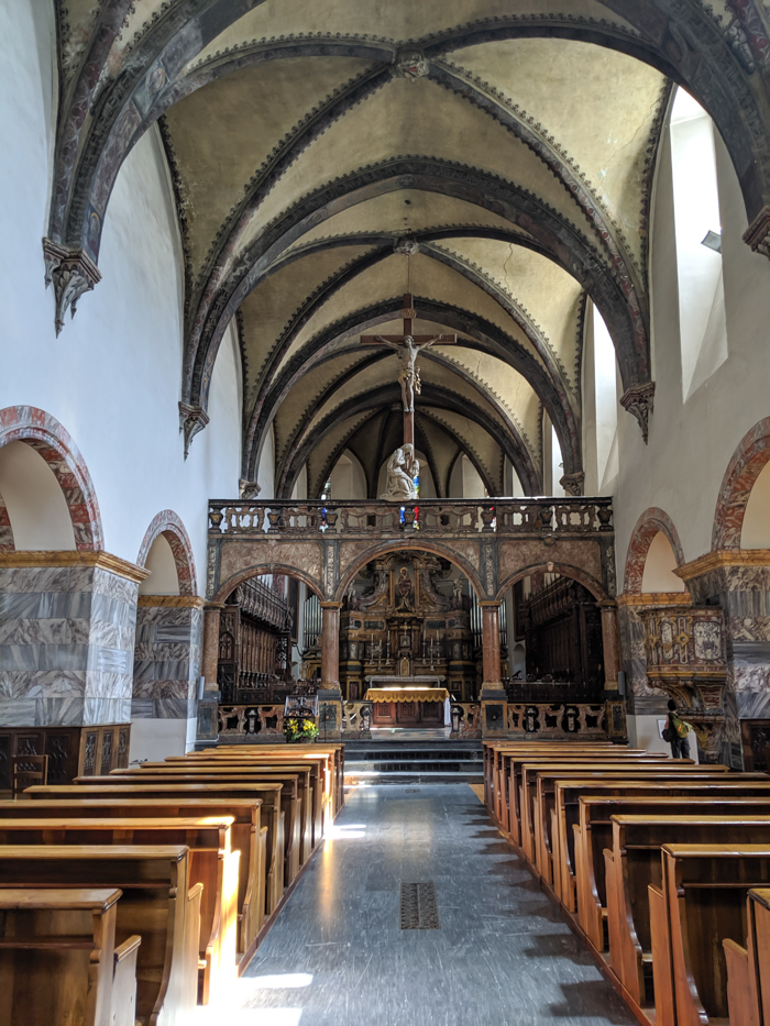 Collegiate Church and Cloister of Saint Orso   How to Spend 1 Day in Aosta, Italy // The Capital of the Aosta Valley   Things to see in Aosta, Things to do in Aosta, Where to eat in Aosta, the smallest of Italy's 20 regions #aosta #italy #aostavalley #traveltips #timebudgettravel #romanruins #ancient #ruins #church