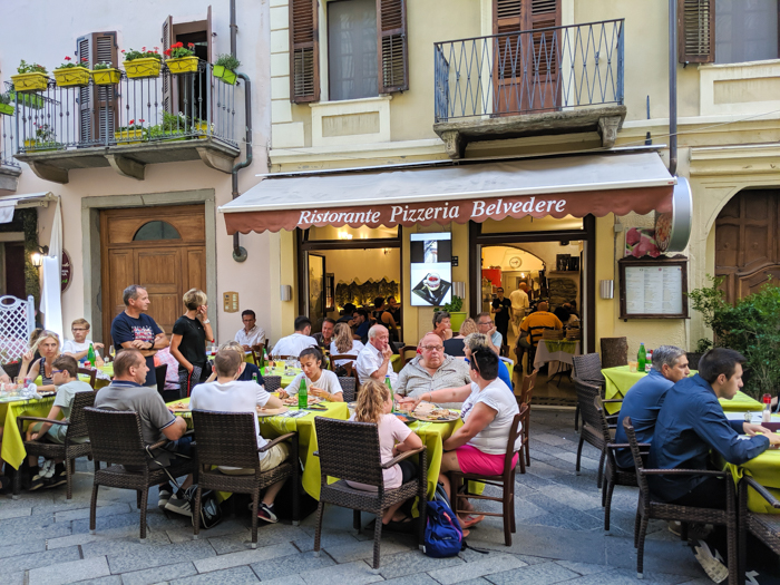 Dinner at Ristorante Pizzeria Belvedere   How to Spend 1 Day in Aosta, Italy // The Capital of the Aosta Valley   Things to see in Aosta, Things to do in Aosta, Where to eat in Aosta, the smallest of Italy's 20 regions #aosta #italy #aostavalley #traveltips #timebudgettravel #romanruins #ancient #ruins