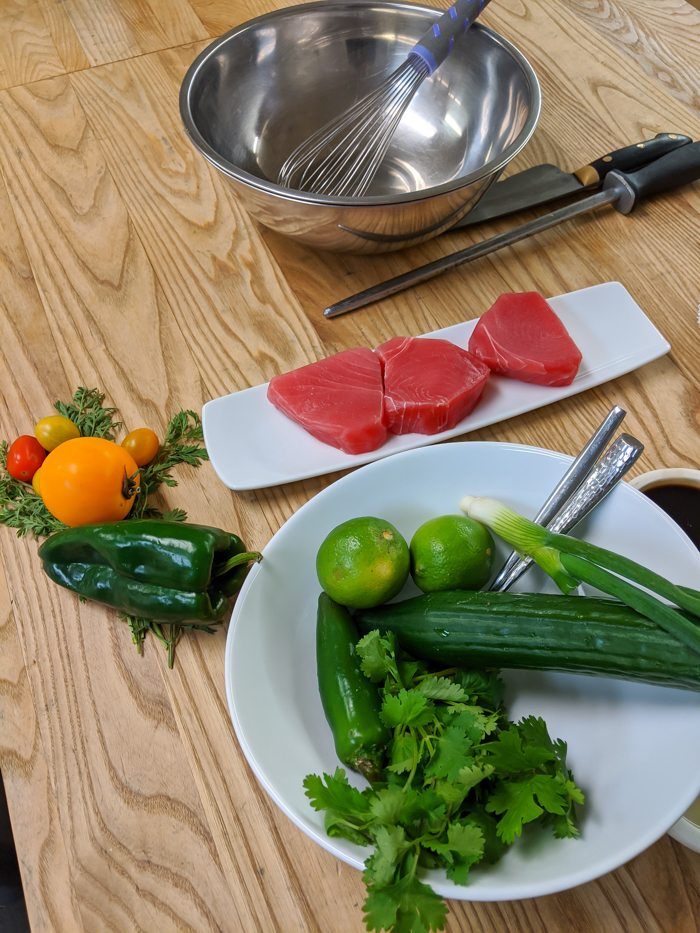 4 Days in Scottsdale, Arizona // A Jam-Packed Itinerary With a Bit of Everything | Things to do in Scottsdale: Culinary demonstration at Civana, chefs and sashimi #scottsdale #spa #civana #cookingclass