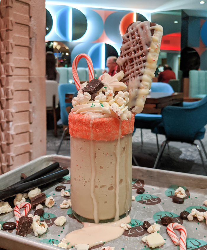4 Days in Scottsdale, Arizona // A Jam-Packed Itinerary With a Bit of Everything | Where to eat in Scottsdale: Zuzu at the Hotel Valley Ho, showstopper shake #scottsdale #midcenturymodern #zuzu