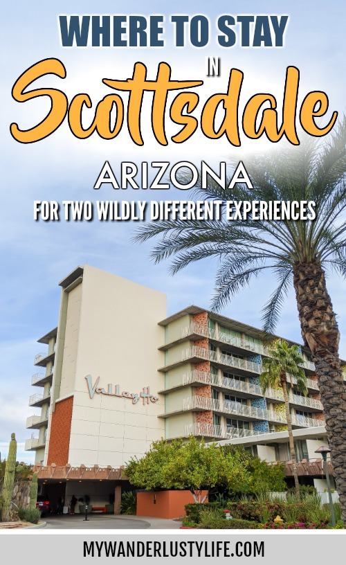 Where to Stay in Scottsdale, Arizona for two very different experiences | Comparing the iconic Hotel Valley Ho and Civana Wellness Resort and Spa | Mid-century modern architecture and design vs. a spa resort in the desert #scottsdale #arizona #spa #midcenturymodern #wheretostayinscottsdale