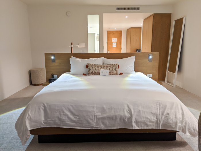 Bedroom at Civana Wellness Resort and Spa | Where to Stay in Scottsdale, Arizona for two very different experiences | #civana #spa #scottsdale #arizona #wheretostay