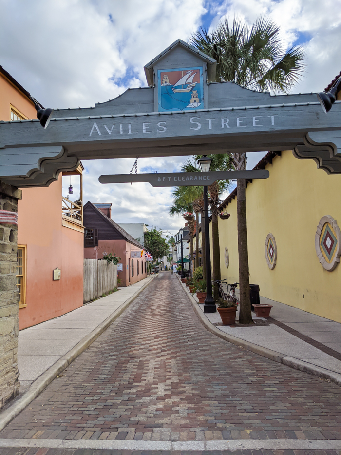 Aviles Street / 1 day in St. Augustine, Florida: A quick trip to America's oldest city / 24 hours in St. Augustine / day trip to St. Augustine from Jacksonville or day trip to St. Augustine from Orlando