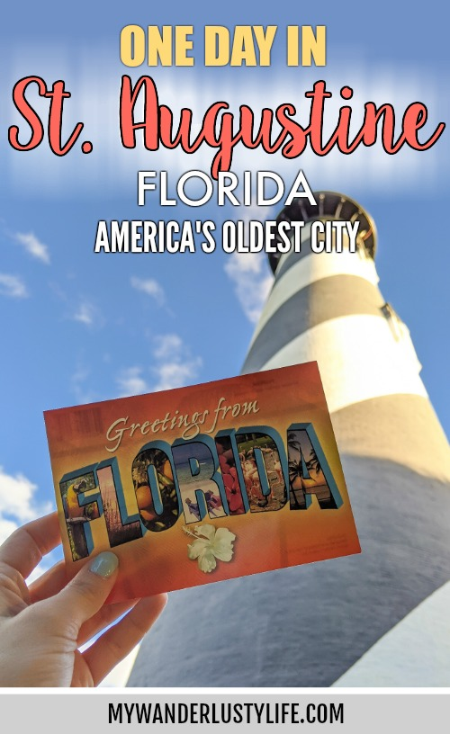 1 day in St. Augustine, Florida: a quick trip to America's oldest city / day trip to St. Augustine from Jacksonville / day trip to St. Augustine from Orlando / Castillo de san marcos, fountain of youth, lighthouse, spanish food #staugustine #florida #oldestcity #history