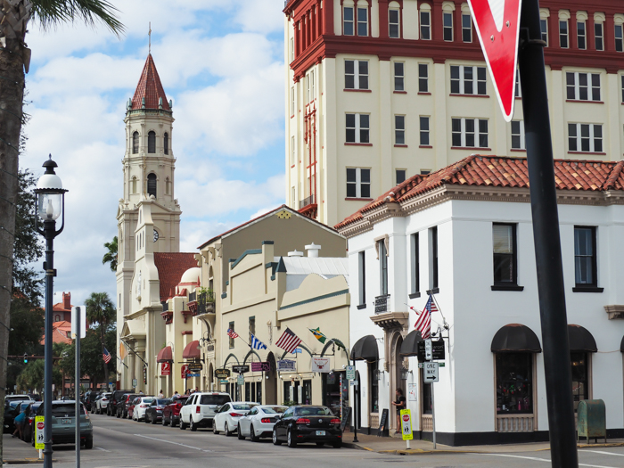 Main street / 1 day in St. Augustine, Florida: A quick trip to America's oldest city / 24 hours in St. Augustine / day trip to St. Augustine from Jacksonville or day trip to St. Augustine from Orlando