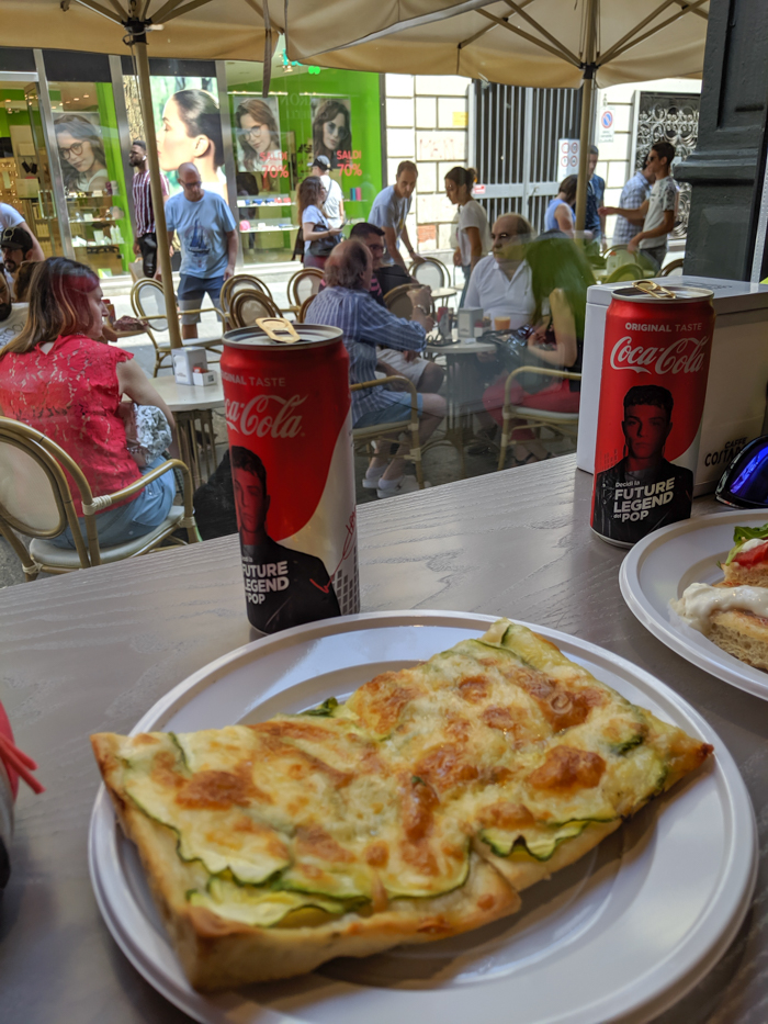 Zucchini pizza at Focacceria Blob | How to Spend 2 Days in Turin, Italy (Torino) | 2-Day Itinerary plus helpful tips | Where to stay in Turin, Things to do in Turin, the capital of the Piedmont region | #turin #torino #italy #weekendinturin #traveltips