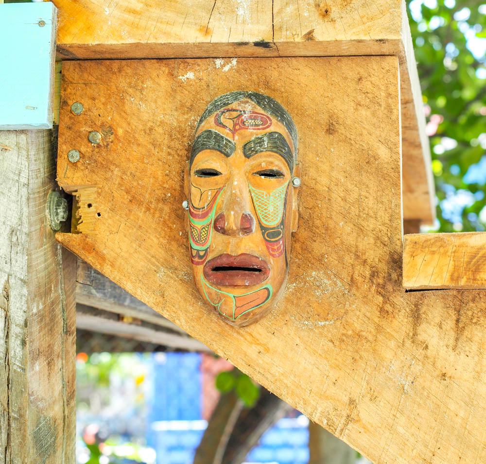mask hanging in caye caulker belize