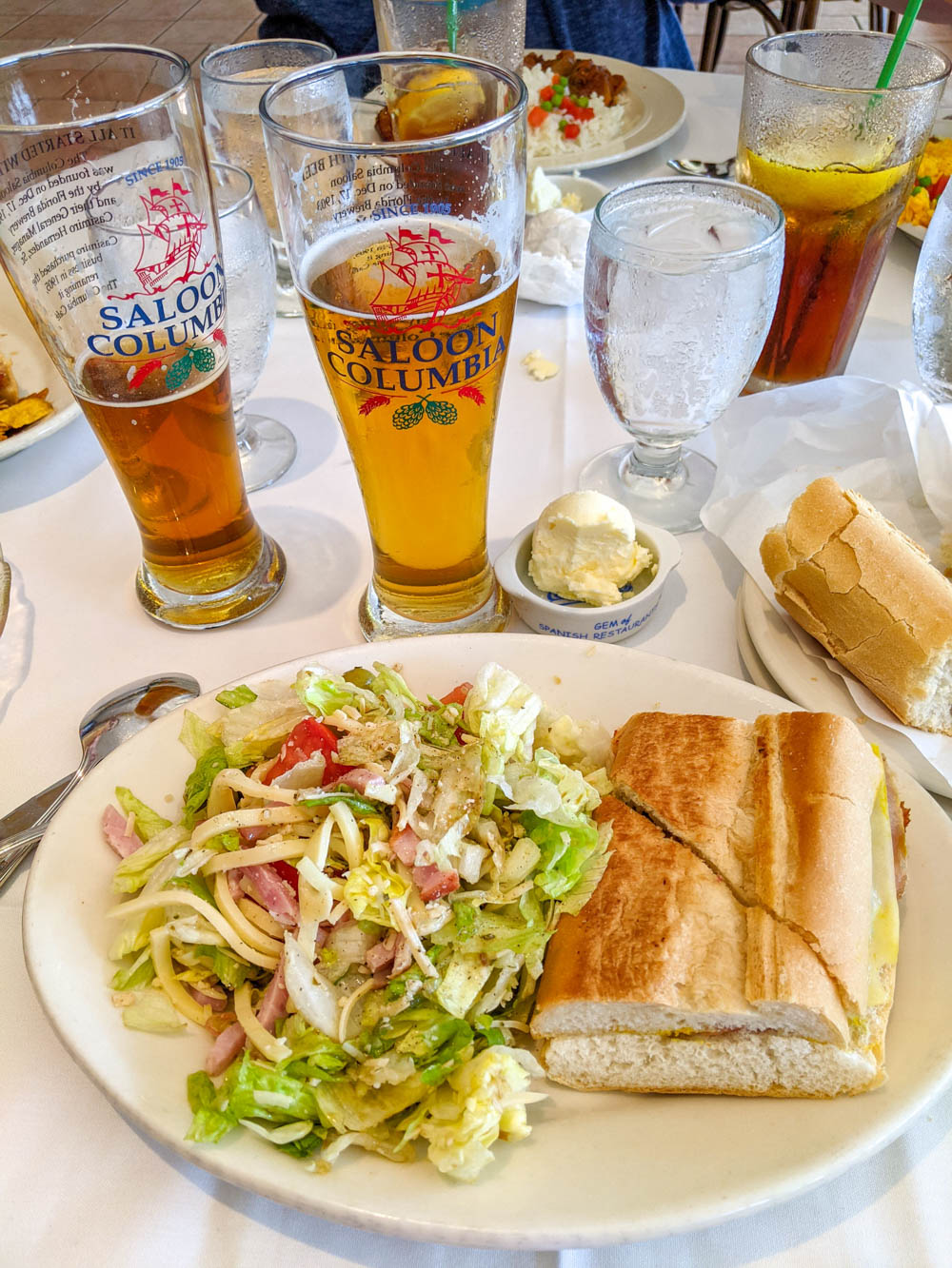 Columbia restaurat, 1905 salad and cuban sandwich / 3 days in Sarasota, Florida / What to do in Sarasota, Where to eat in Sarasota, itinerary and information guide