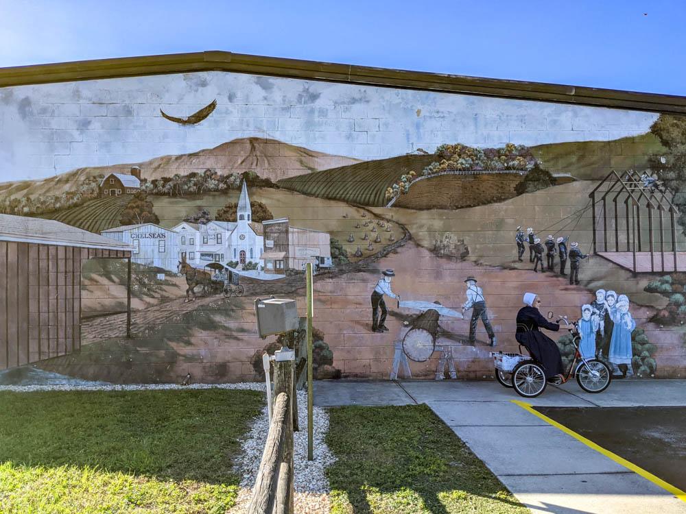 Mural at Yoder's Restaurant and Amish Village in Sarasota, Florida