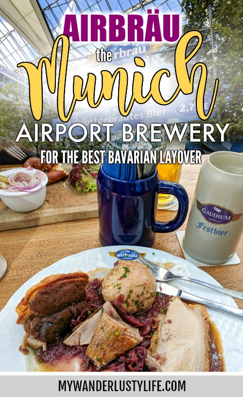 Airbräu: the Munich Airport Brewery for the best way to spend a Munich layover / Bavarian Food and Beer / full-scale brewery and beer garden #munich #germany #bavaria #layovertips #munichairport #beer #brewery #brewerytour #airbrau