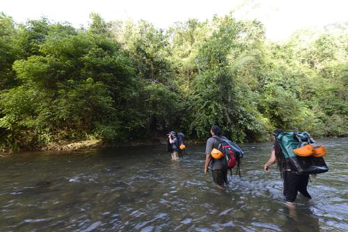ATM Cave river crossing / What to pack for the ATM Cave in Belize: What to wear, what shoes to wear, what to bring, and what to never, ever bring into the ATM Cave.