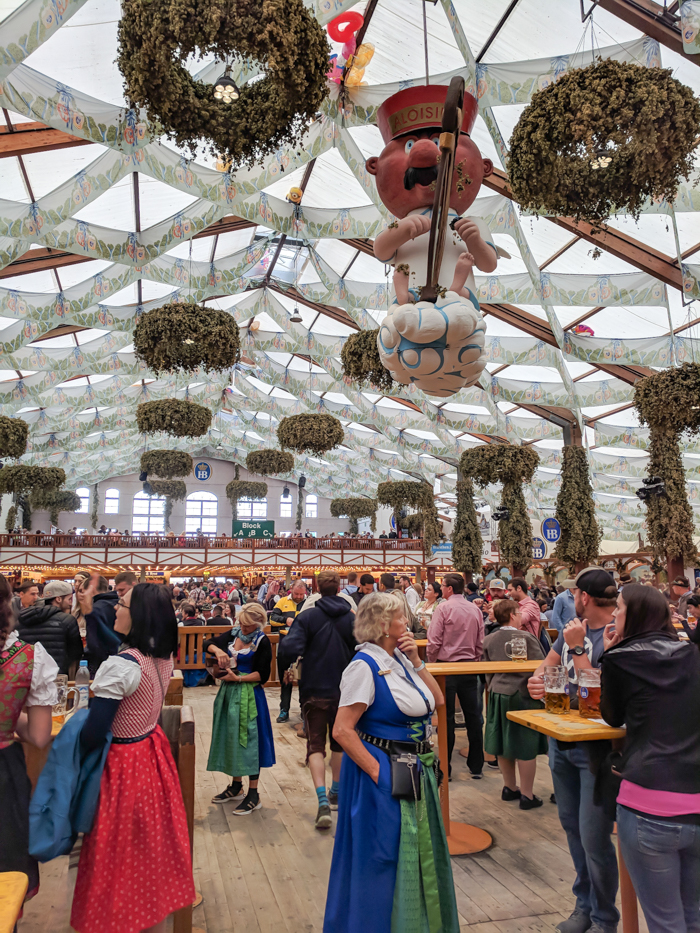Hofbrau tent standing area / Must-Know Oktoberfest tips from an Oktoberfest tour guide and locals / what you need to know about oktoberfest in munich, germany