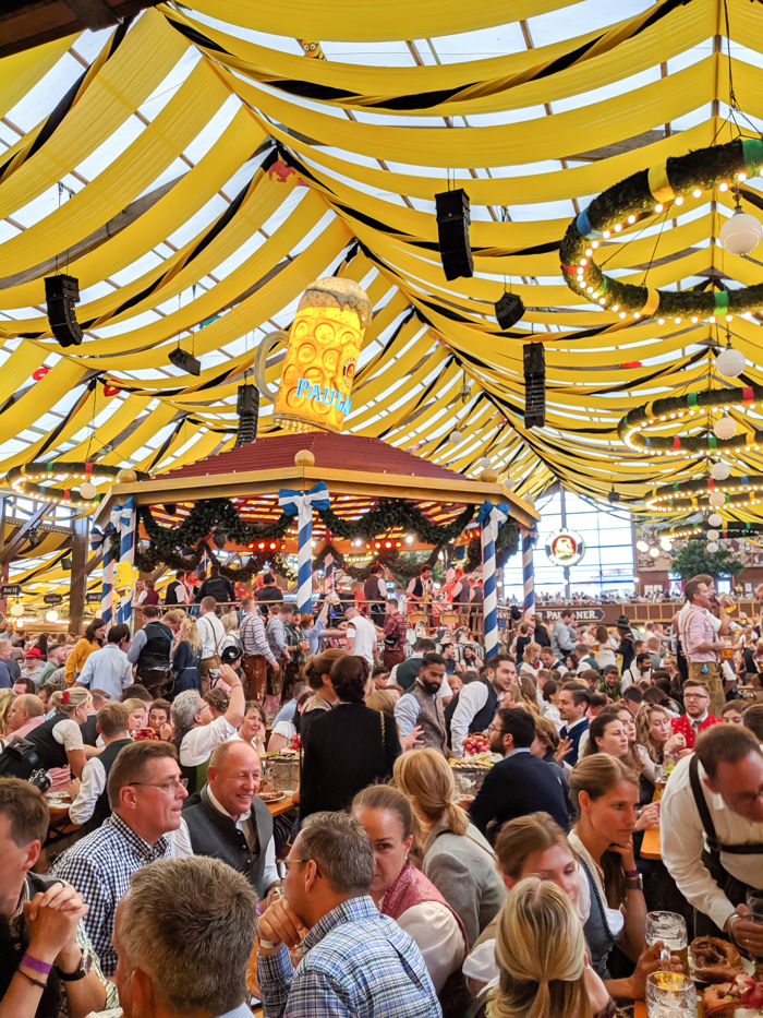 Inside the Paulaner tent / Must-Know Oktoberfest tips from an Oktoberfest tour guide and locals / what you need to know about oktoberfest in munich, germany