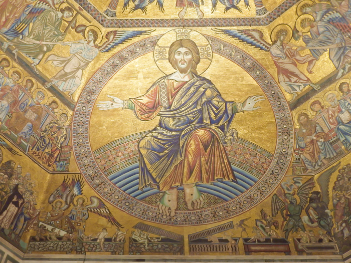 Baptistery ceiling Jesus mosaics / 2 days in Florence, Italy