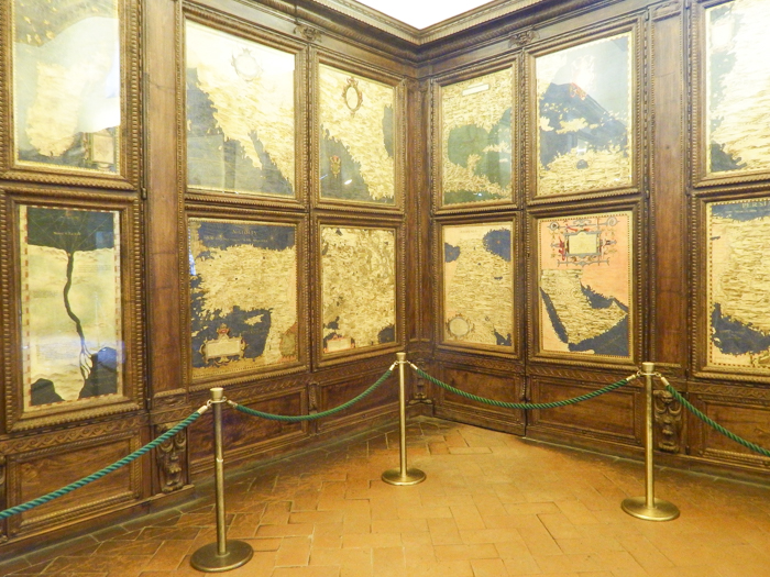 Map room inside Palazzo Vecchio museum / 2 days in Florence, Italy